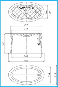 MANHOLE COVER IN CAST IRON GG 25