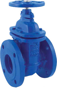 GATE VALVE IN NODULAR CAST IRON GG 25 PN 10 - METAL WEDGE - FLAT BODY
