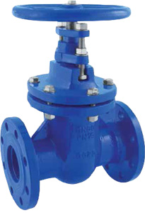 GATE VALVE IN NODULAR CAST IRON GG 25 PN 10/16 - METAL WEDGE - OVAL BODY
