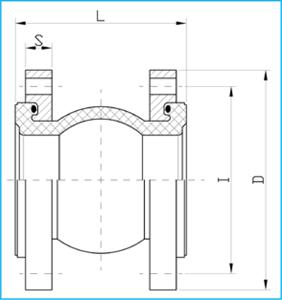 GIUNTO ELASTICO IN GOMMA FLANGIATO PN16 tech